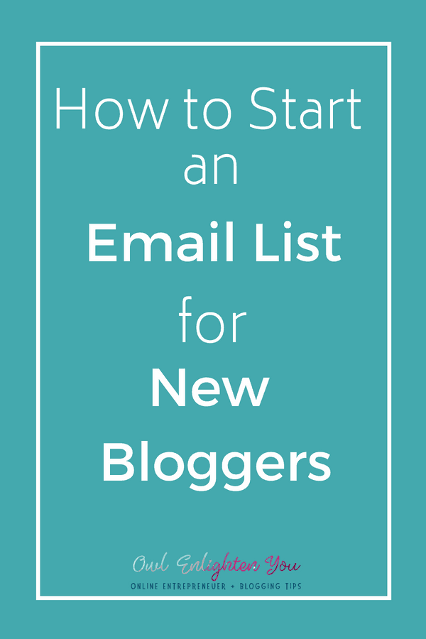How to Start an Email List For New Bloggers with Free Welcome Email Template #Email #Blog #Bloggers #NewBlogger #Howtostartemail
