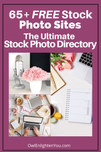 A collage of photos advertising The Ultimate FREE Stock Photo Directory from OwlEnlightenYou.com
